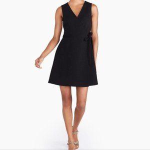 J. By J.Crew Black Ponte Wrap Dress, Black Small